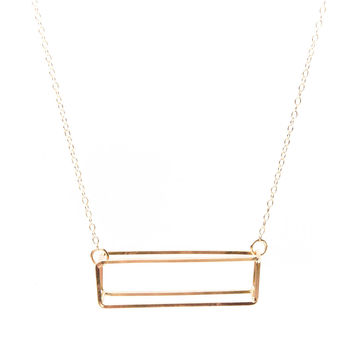 Rectangle Necklace - Gold