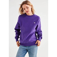 Champion Women Fashion Embroidery Round Neck Pullover Top Sweater