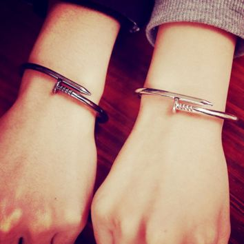 Screw nail high-quality opening couple Bracelet