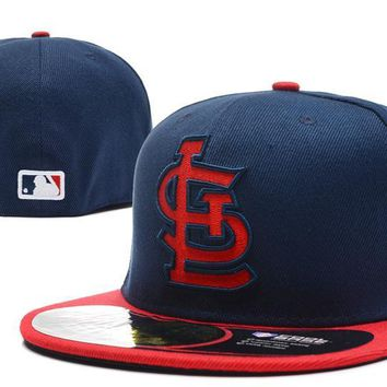 hcxx St. Louis Cardinals New Era MLB Authentic Collection 59FIFTY Hat Blue-Red