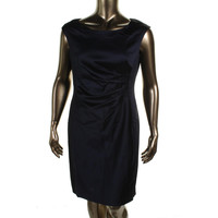 Lauren Ralph Lauren Womens Sateen Sleeveless Cocktail Dress