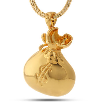 "18K Gold Money ""Stash"" Necklace"