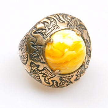 Authentic Ottoman Style Gemstone Ring, Turkish Jewelry, Jewelry Findings, Boho Ring, Gypsy Style