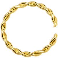 """18 Gauge 5/16"""" Gold IP Annealed Steel Seamless Braided Circular Ring 
