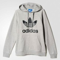 Adidas Women Men Fashion Casual Long Sleeve Hooded Top Sweater Pullover Sweatshirt G