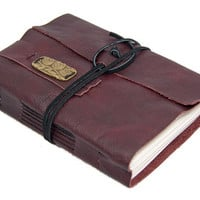 Burgundy Leather Journal