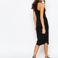 New Look Rib Racer Midi Dress at asos.com