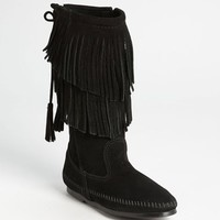 Women's Minnetonka Two Layer Fringed Boot,