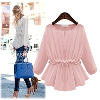 Summer Women's Fashion Tops Stylish Long Sleeve Bottoming Shirt [6281593156]