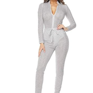 A Perfect Fit Jumpsuit-Silver