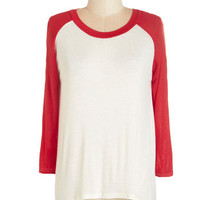 ModCloth 3 All Night Blogathon Top in Red