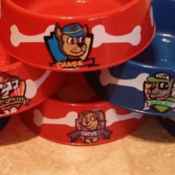 custom dog bowl party dishes paw patrol from masonalexanderinc