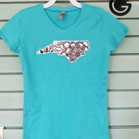 CUSTOM Girls Color Me Applique State Shirt -- Perfect Gift, Color Yourself! Great for Parties!