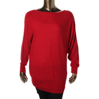 Alfani Womens Knit Boatneck Pullover Sweater