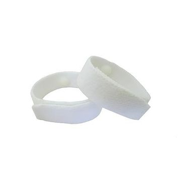 Anti-Nausea/Motion Sickness Bracelets (pair) White