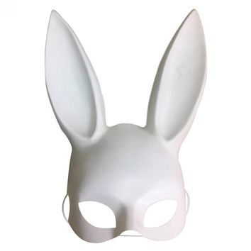 Pro Masquerade Bunny Girl Face Mask Rabbit Ears