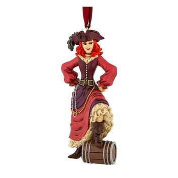 Disney Parks Pirates of the Caribbean Redhead Hand Painted Ornament New with Tag