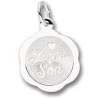 Grandson Charm In Sterling Silver