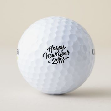 Happy New Year 2018 Golf Balls