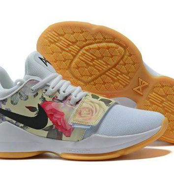 Nike Zoom PG 1 EP White Flower Basketball Shoes US 7-12