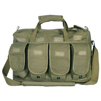 Mega Shooter's Bag with Hook & Loop Adjustable Flaps and Double Zipper Pulls