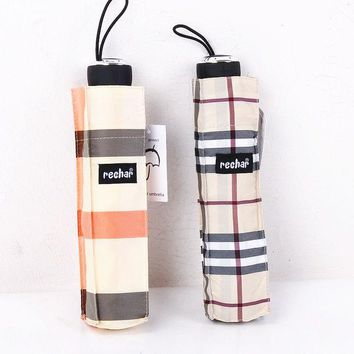 ac DCK83Q Design Strong Character Stylish Folded Plaid Umbrella [10151407628]