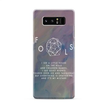 Troye Sivan Fools Lyrics Samsung Galaxy Note 8 Case