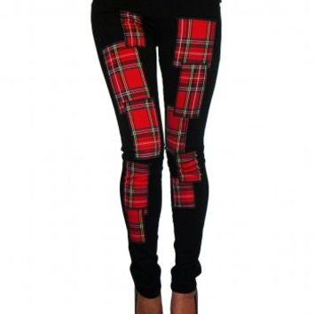 Tripp Plaid Patch Skinny Pants :: VampireFreaks Store :: Gothic Clothing, Cyber-goth, punk, metal, alternative, rave, freak fashions