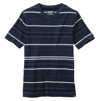 Tony Hawk Micro Stripe Tee - Boys 8-20, Size: SMALL (Blue)