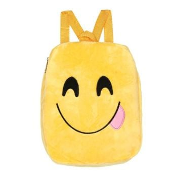 Women Cute Emoji Emoticon Shoulder School Child Bag Backpack Satchel Rucksack#XTJ