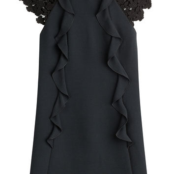 Dress with Ruffles and Lace Sleeves - Giambattista Valli | WOMEN | KR STYLEBOP.COM