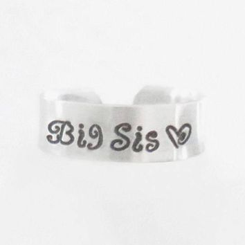 Big sister ring Big sis ring gift for sister jewelry