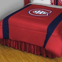 Montreal Canadiens Sidelines Comforter - Twin (Red)