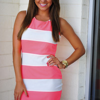 Neon Horizon Dress: Neon Pink | Hope's