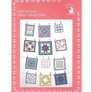1983 Pattern, Little Heirlooms 1930s Collection Miniature Quilts, Tomorrow's Heirlooms, Double Wedding Ring, Vintage Pattern, Home Quilting
