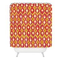 Sharon Turner Party Boardwalk Ikat Shower Curtain