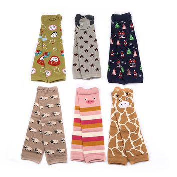 Baby Cotton Leg Warmers Kids Safety Crawling Infants Toddlers Baby Knee Pads Protector Leg Warmers Animal Print