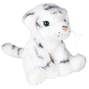 "Wildlife Tree 8"" White Tiger Stuffed Animal Plush Floppy Zoo Animal Den Collection"