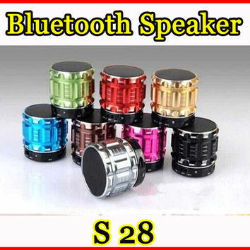 Wireless Bluetooth Speaker Mini Portable Stereo S28 Speakers Hifi Handsfree Music Player Subwoofers With TF FM For Samsung iPhone Tablet