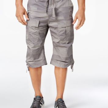 Sean John Men's Camo-Print Flight Cargo Short