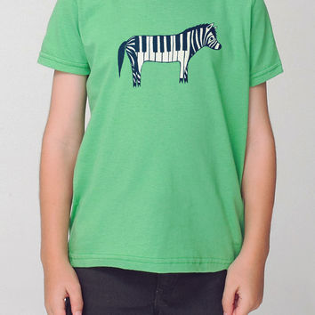 Zebra Kids T-shirt / Zebra Youth T-shirt by Susie Ghahremani / boygirlparty.com
