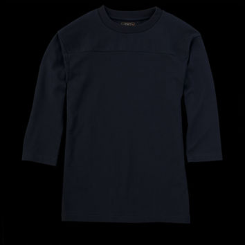 UNIONMADE - Beams+ - Football Tee in Navy