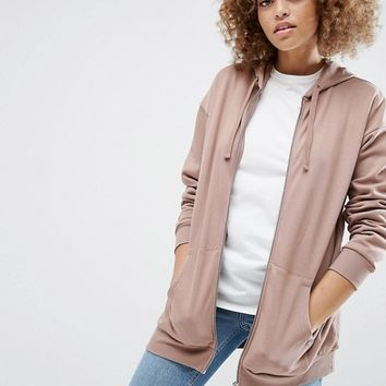 ASOS Ultimate Oversized Zip Through Hoodie at asos.com