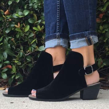 Anything Goes Booties- Black