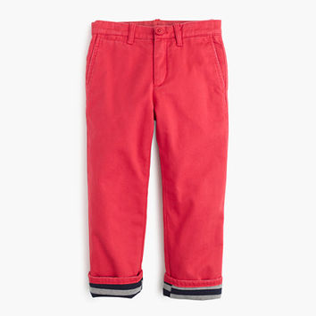 crewcuts Boys Jersey-Lined Cozy Chino Pant