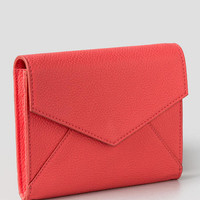 Sarah Boxed Envelope Wallet In Coral
