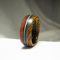 Wood Ring - Custom Ring Exotic Wood and Birdseye Maple