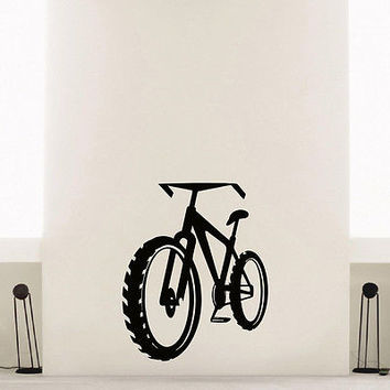 WALL DECAL VINYL STICKER SPORT BICYCLE DECOR SB705