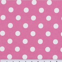 Keepsake Calico Cotton Fabric-Large Dots On Rose Pink | Jo-Ann