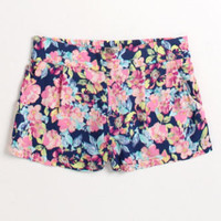 Kirra Smocked Challis Printed Shorts at PacSun.com